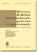 Rivista di diritto internazionale privato e processuale